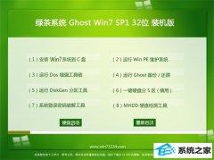 绿茶系统Win7 大师装机版32位 2021.04