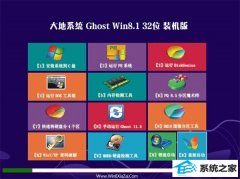 大地系统Win8.1 专业装机版32位 2021.04